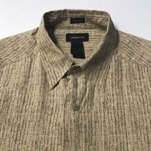 CLAIBORNE Mens Medium Silk Casual / Dress Shirt